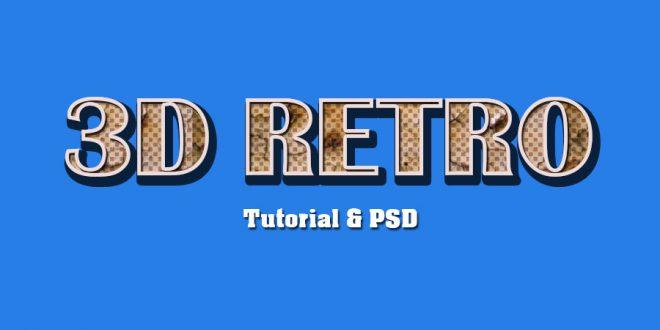 3D Retro Text Effect Photoshop Tutorial