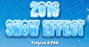 How to Create a White Snow Text Effect in Photoshop