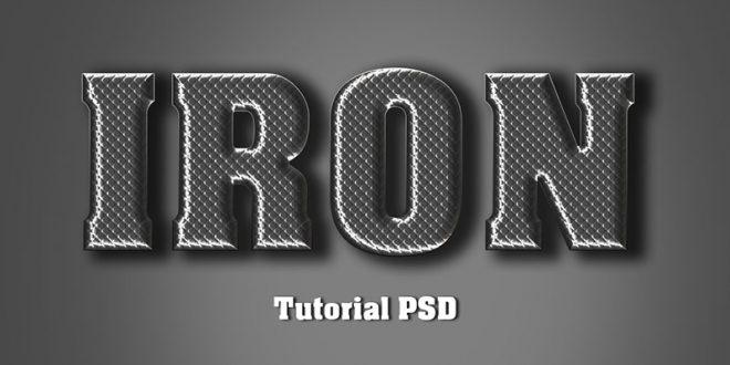 Iron Text Effect Photoshop Tutorial