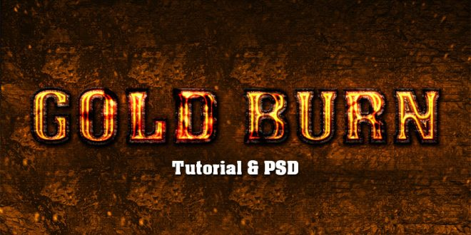 Gold Fire Text Effect Photoshop Tutorial