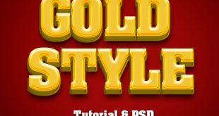 Photoshop 3D Gold Text Effect Tutorial