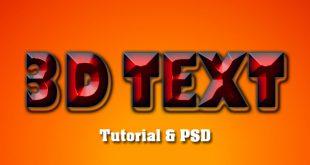 Photoshop 3D Text Effect Tutorial