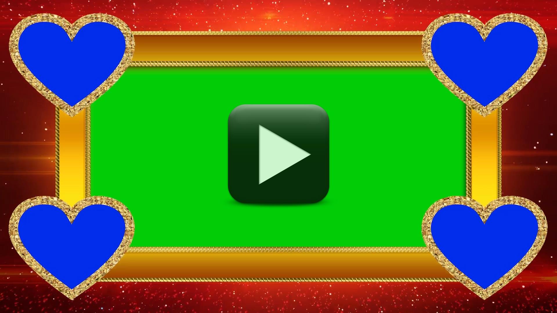 Heart Wedding Green Screen Video Frame