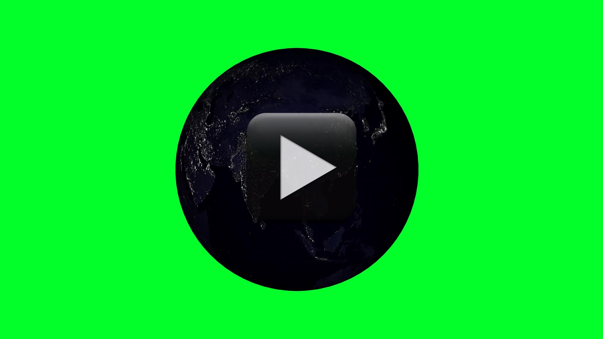 Planet Earth Green Screen-Night Time Lapse 1080p