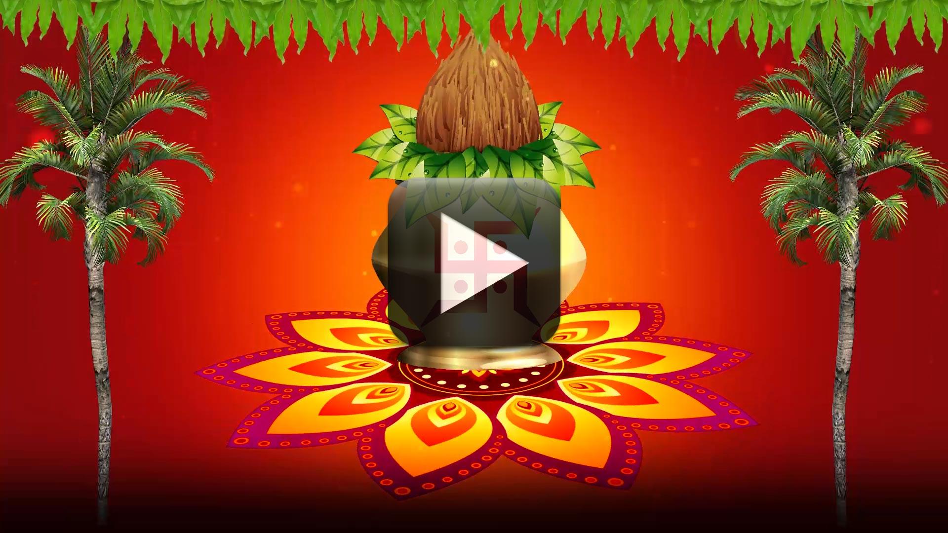 Vivah-mangal-kalash-with-coconut-motion-background