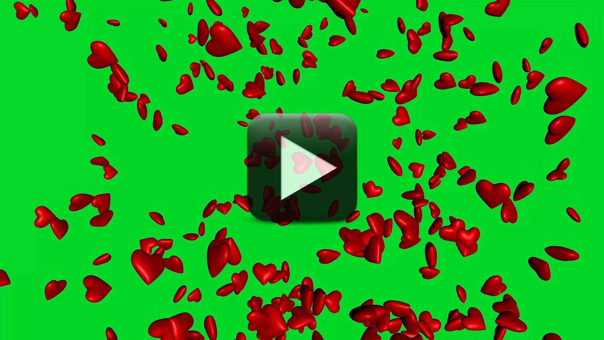 Falling Hearts Green Screen Effect