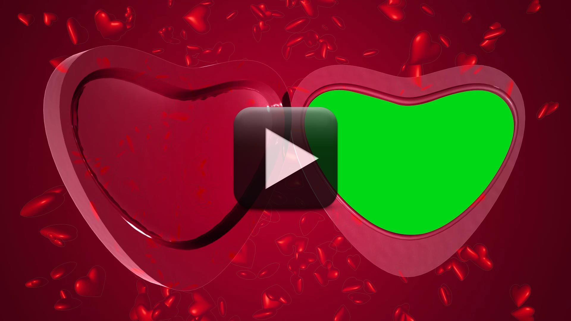 Open & Close Wedding Heart Animation Frame Video Background