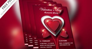 Valentine's Day Flyer Templates Free Download
