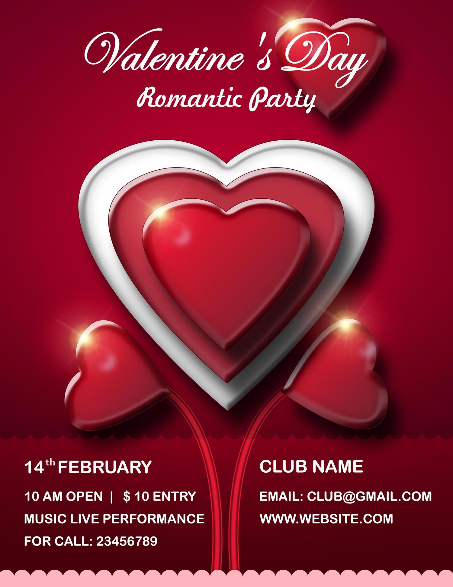 Valentine S Day Flyer Psd Templates Free Download All