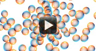 Seamless Moving Bubbles Animated White Background