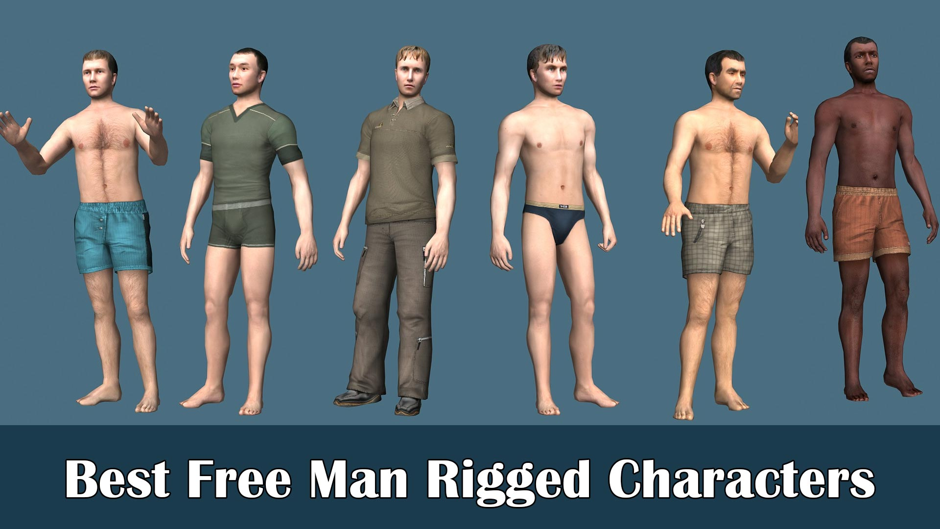 Best Male or Man Rigged Characters-Free Download | All