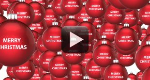 Merry Christmas Ball Motion Graphics Video Background