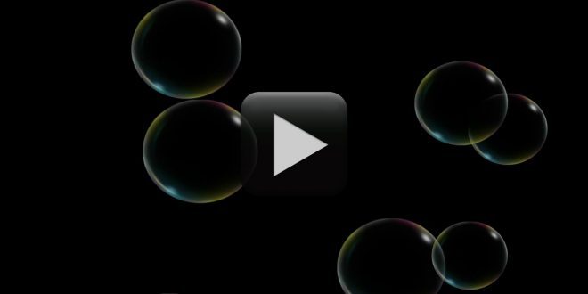 free moving bubbles animation blue black green screen