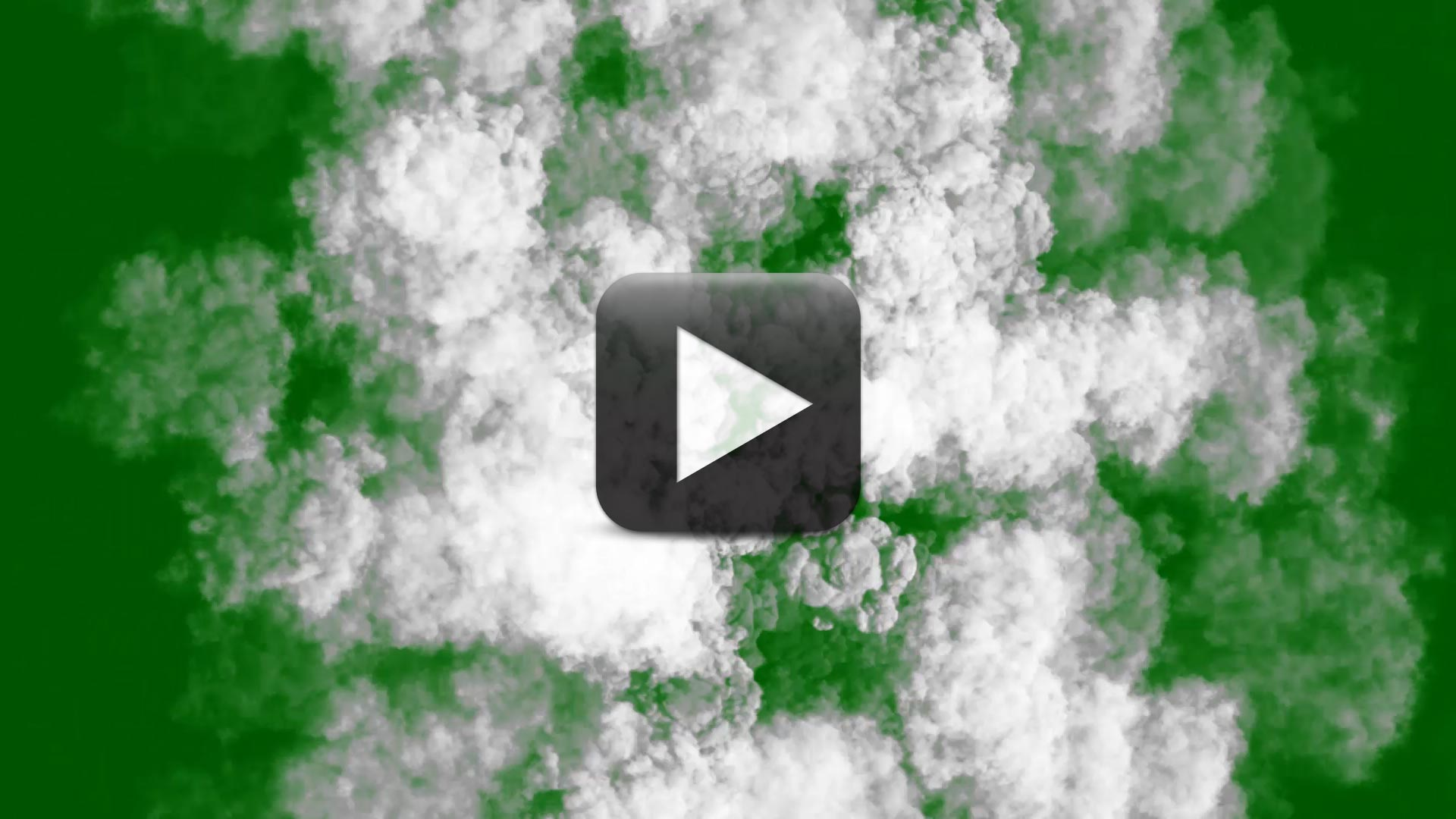 Big Smoke Explosion Stock Video in Top View-Black and Green Screen Background
