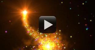 Free Download Colorful Stars Background in Heart Shape