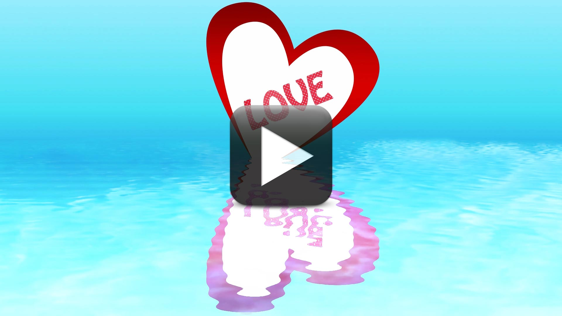 Special Love Effect on Water for Valentine's Day