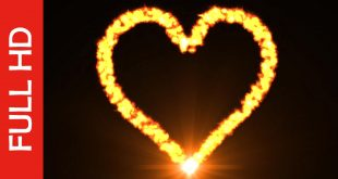 Burning Love Heart Fire Flame Video