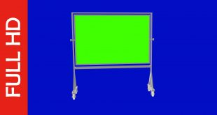 Free Download Standing Green Screen Board