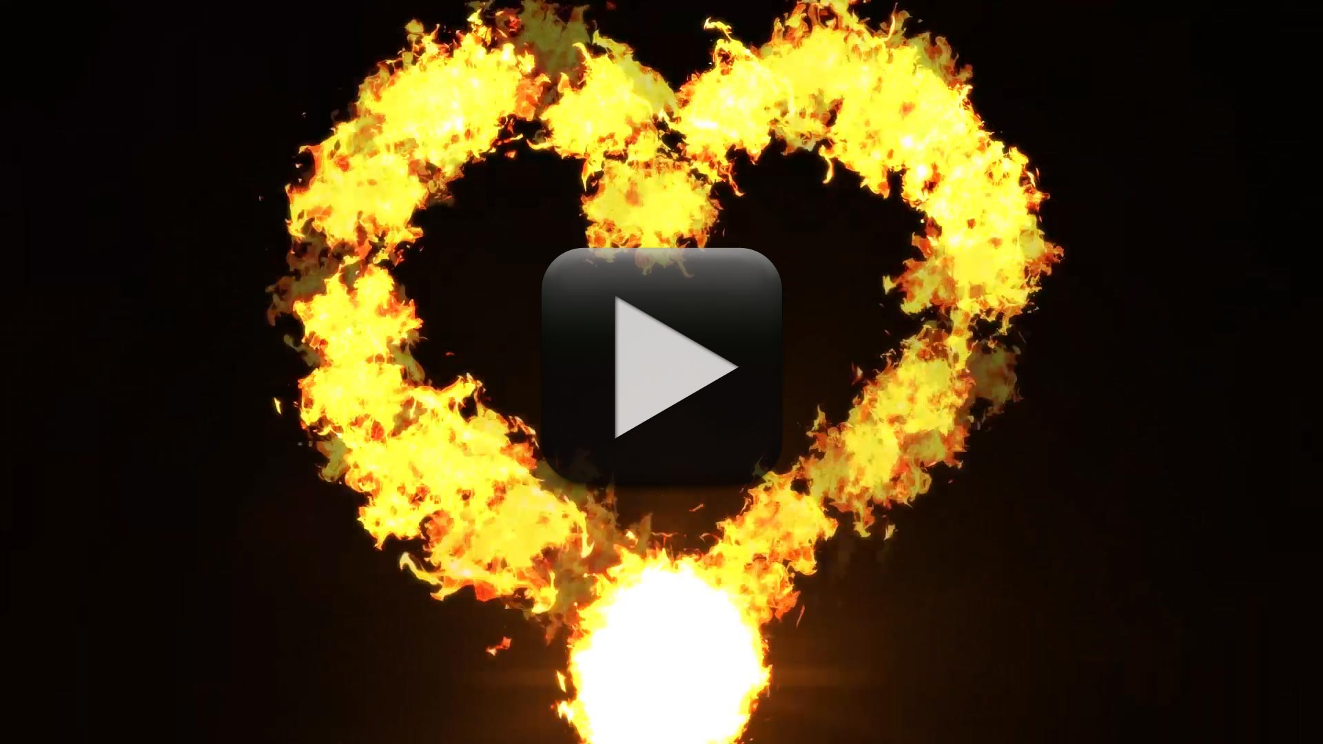 Heart Shape Fire Effect Free Download-Love Flame Video
