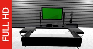 TV in Hall Green Screen Free Stock Footage