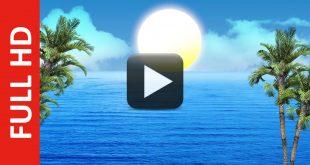 Free Download Ocean Sunrise Background in HD