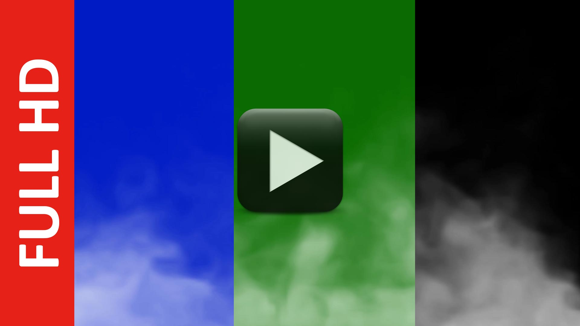 Smoke Explode Blue, Black, Green Screen Effect Video