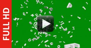 Spreading Alphabet Letters Green Screen Effect