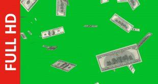 Money Falling Down Green Screen Free Download