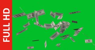 Money Spreading Green Screen HD