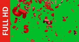 Numbers Falling Green Screen Background Video Effect