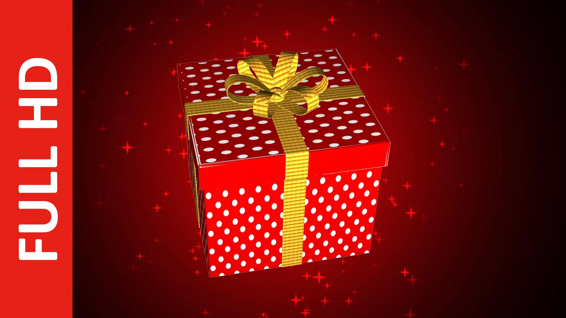 Animated Gift Box Video Background