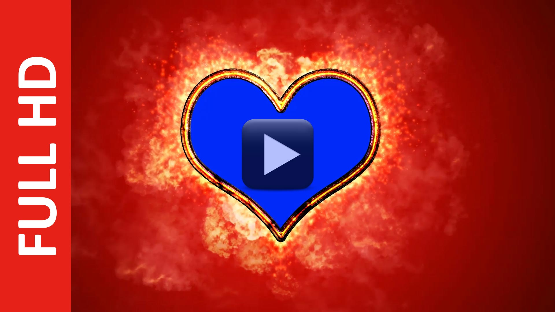 Burning Heart Fire Effect Wedding Motion Graphics in Blue Screen