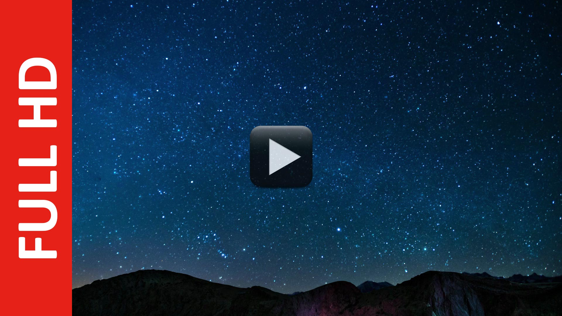 Night Sky Stars Falling Animated Video Background | All Design Creative