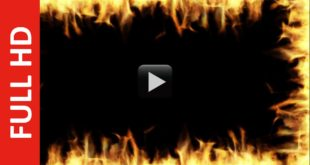 Fire Frame Black Screen Effect | Wedding Title Background