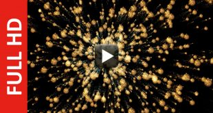 Gold Christmas Balls Moving Background in Black Screen