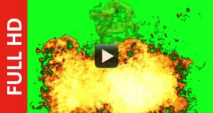 Non-Stop Fire Explosion Green Screen Background Effect