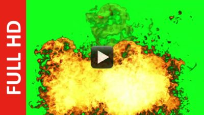 Non-Stop Fire Explosion Green Screen Background Effect | All