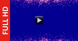Stars Particles Wedding Motion Frame Blue Background Video Effect