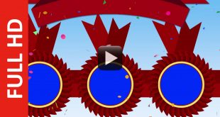 Award Red Ribbon Badge Background Video