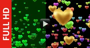 Blinking Hearts Shapes Love Animation Background