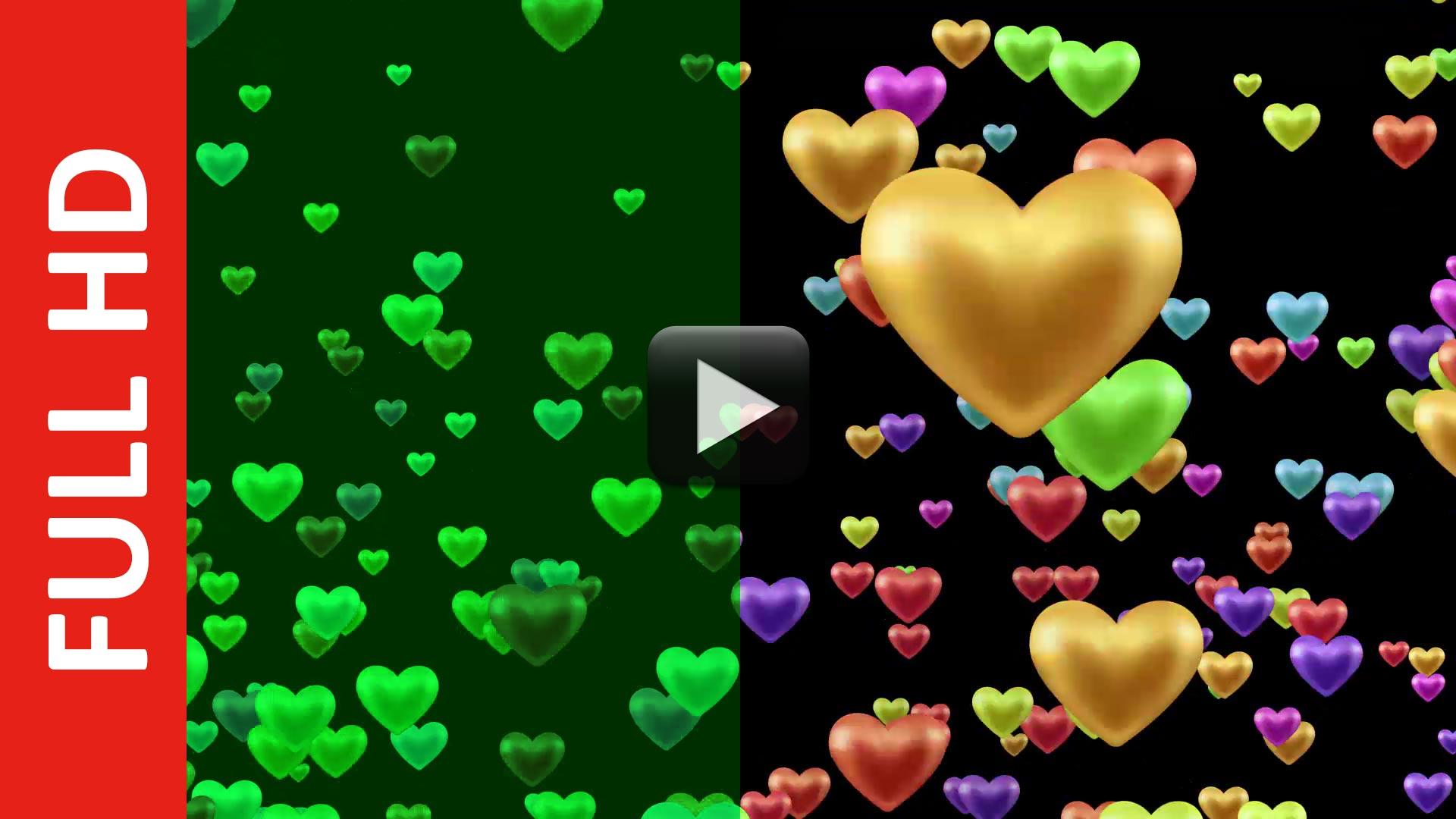 Blinking Hearts Shapes Love Animation Background