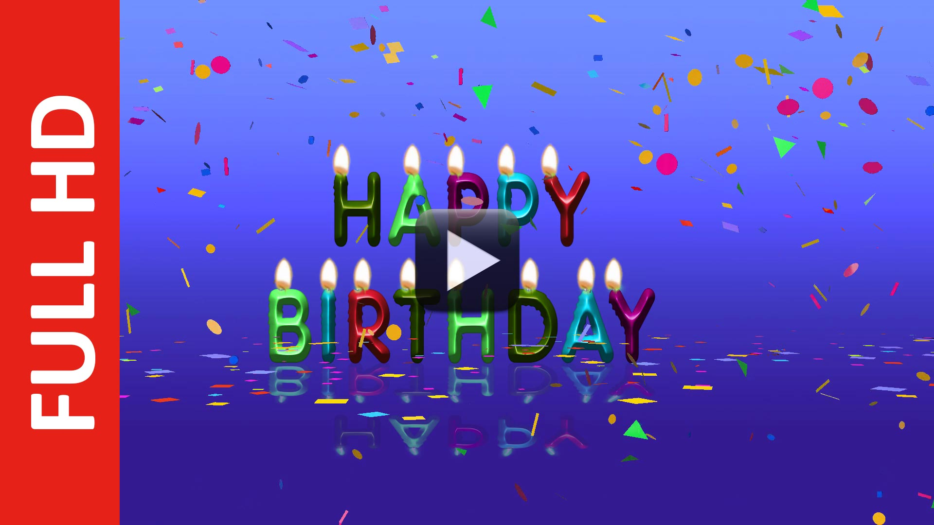 Colorful Happy Birthday Animation Video Free Download