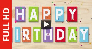 Happy Birthday Text Message Animated Greeting