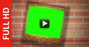 Image Album Animation in Green and Blue Screen Brick Effect