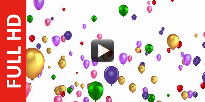 Multicolor Colorful Balloons Motion Animation Background All