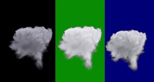 Smoke Explosion Black, Green and Blue Screen Effect Animation