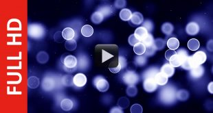 Bokeh in the Blue HD Motion Background Video 1080p