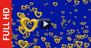 Love Symbol Motion Blue Background