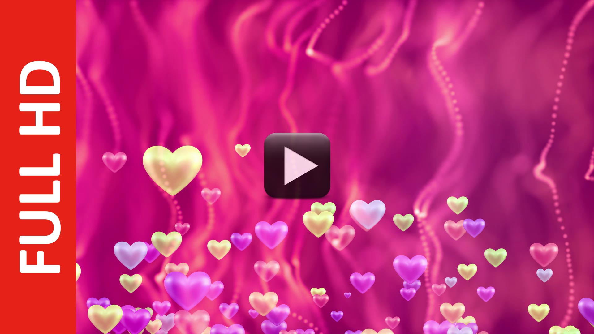 Royalty Free Green Pink Background Love Animation Motion Video