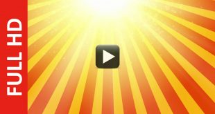 HD Starburst Sun Rays Motion Background Animation